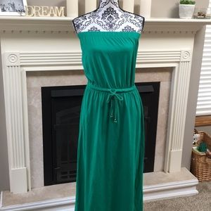 Gap- Green Strapless Maxi Dress